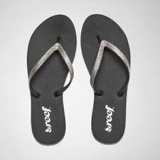 Flache Damen-Sandalen & -Badeschuhe aus Synthetik für den Strand