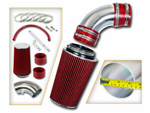 Kurz RAM Luft Ansaug Set + Rot Filter Für 10-12 Hyundai Genesis Coupe 3.8L V6