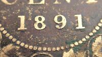 1891 LL LD Canada One 1 Cent Large Penny Canadian Circulated Victoria Coin J733