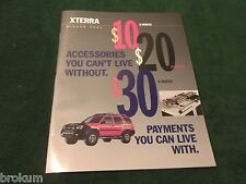 MINT 2001 NISSAN XTERRA ORIGINAL SALES BROCHURE  (BOX 515)