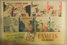 Camel Cigarette Ad: Singing Star Lanny Ross 1940's 7 x 10 inches