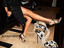 Jimmy Choo Lottie Metallic Leather Crisscross Sandal Slingback Heel Shoe 36- 6