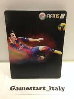 FIFA 15 STEELBOX STEELBOOK NO GAME - LIONEL MESSI 10 - NEW - PS4 PS3 XBOXONE