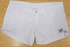 "ladies womens striped white shorts Hot Pants Size XXL 35"" Waist"