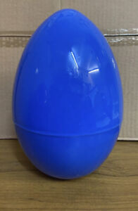 1x BLUE JUMBO EXTRA LARGE PLASTIC FILLER EGGS EMPTY SHELL PARTY EASTER HUNT
