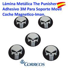 LÁMINA METÁLICA THE PUNISHER ADHESIVO 3M PARA SOPORTE MOVIL COCHE MAGNETICO-IMAN