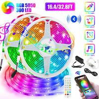 32FT LED Color Change Strip Light 5050 SMD RGB Bluetooth APP Phone Music Control