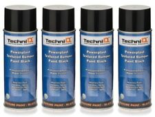 Bumper Structure Texture Spray Black Paint Plastics FAST Drying 400ml 4 CANS !