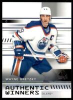 2019-20 UD SP Authentic Authentic Winners #AW-WG Wayne Gretzky - Edmonton Oilers