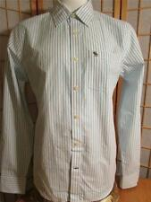 Mens New Abercrombie & Fitch Muscle Classic Button Front Shirt Gry Moose Logo XL