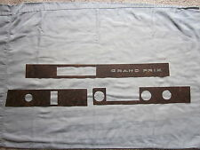 1969-70 grand prix vinyl dash wood grain trim for models with air