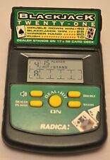 Radica Pocket Blackjack 21 Casino Electronic Hand Held Game mod. 2850
