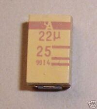 CAPACITOR TANTALUM  22UF 25V 10% SMD (SET OF 5)