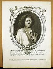 Emmanuel-Théodose d La Tour d'Auvergne Duc de Bouillon de LARMESSIN Gravure XVII