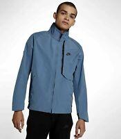 Nike Tech Pack Shield Mens waterproof Jacket Blue Size L 914082 437