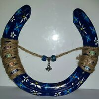 Hand Painted/crafted Recycled Designer Lucky Horseshoe Gift Baby Boy