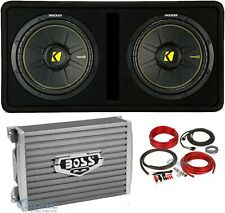 "Kicker 12"" Single Loaded Vented Enclosure Subwoofer+Monoblock Amplifier+Amp Kit"