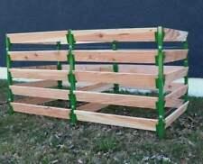Alu Holz Komposter grün 180 x 90 x 100 Kompostbehälter Gartenkomposter Aluminium