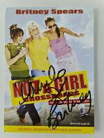 Britney Spears ## Not a Girl ## original handsignierte Autogrammkarte ## RAR