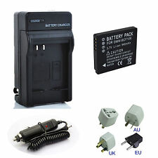 Rechargeable Battery + Charger for Panasonic Lumix DMW-BCF10E DMC-F2 CGA-S/106C