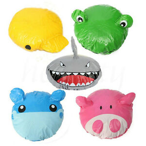 Cartoon Animal Shower Cap Hat Bath Waterproof Kids Travel Hair Protector