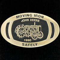 * John Deere Dubuque Works 544 Wheel Loader 1997 Brass Belt Buckle Limited Ed jd