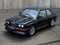 Rare 1:18 Black Diecast Detail BMW M3 E30 Sport Evolution 1990 Toy Model Car