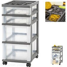 Tool Carts On Wheels With Drawers Storage Organizer Top