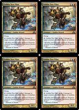 4x GOBLIN TEST PILOT Dragon's Maze MTG Gold Creature—Goblin Wizard Unc