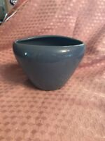 "BLUE POTTERY PLANTER/VASE-4"" Tall x 6"" Long (top) NO CHIPS-VGC"