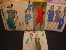 4 1970's Vintage Patterns Shorts, Suit, Designer Dress More Size 16