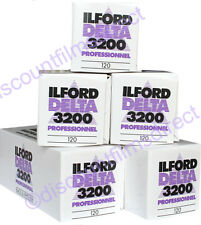 5 x ILFORD DELTA 3200 120 Roll CHEAP BLACK & WHITE CAMERA FILM by 1st CLASS POST