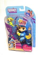 NEW WowWee Fingerlings Toy BFF Collection Billie & Aiden Mini Baby Monkey Blue