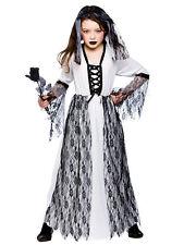 Ghastly Ghost Bride Girls Fancy Wedding Dress Up Halloween Child Kids Costume