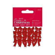 Create Christmas (Papermania) - Decorative Craft Velvet Bows (20pcs)