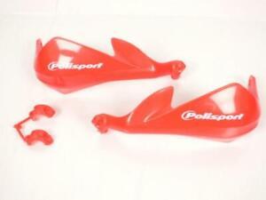 Paire de protège main intégraux Polisport de coloris rouge Honda avec