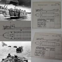 Rare WWII 1942 Classified British D-Day Landing Craft TLC IV Blueprint Lot Relic