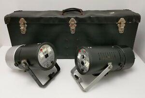 Vintage Bowens Monolite 200E & 400E Photograpic Studio Flash Head Units & Case