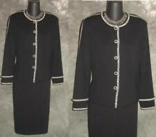 BEAUTIFUL St John collection jacket knit black suit blazer size 8 10