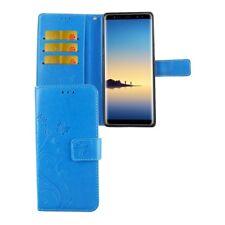 Etui Coque Fleurs pour téléphone portable SAMSUNG Galaxy Note 8 blau