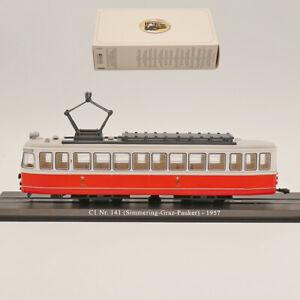 Ho Scale Atlas 1:87 scale Tram C1 Nr.141 (SImmering-Graz-Pauker) 1957 model Toy