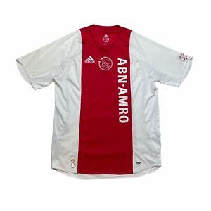 🔥Vintage Ajax 2006/07 Home Football Shirt Adidas Original - Size L🔥