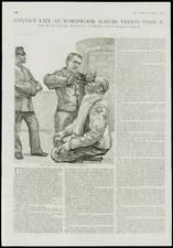 1889 antica stampa-Londra Wormwood SCRUBS Prigione Detenuto Vita (149)