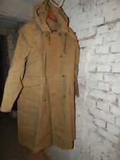 Russian Army Cloak canvas Hood USSR Soviet MILITARY COAT Size M, L, XL