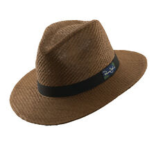 PANAMA JACK ORIGINAL * BROWN FEDORA HAT * M or L * NEW MEN TOYO STRAW SAFARI SUN