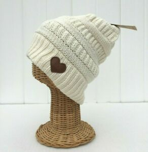 DAVID & YOUNG Love Collection Cable Knit Beanie Hat Soft Stretch Baggy Cap #Z