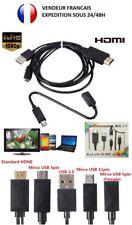 CABLE  ADAPTATEUR MICRO USB MHL 5 PIN &11 PIN  / HDMI HDTV SAMSUNG SONY LG HTC