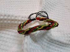 Crochet wristband BRACELET bob marley jamaiga handmade HIPPIE RASTA REGGAE boho