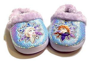 Disney Frozen 2 Elsa and Anna Baby Toddler Girls purple blue slippers Size 7/8