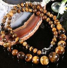cadeau d'anniversaire ! Mode, collier en perles tigereye ,45cm